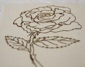 Wooden Postcard BLANK A6 - Rose