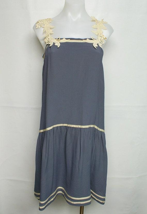 VINTAGE FLAPPER retro 20s 30s drop waist icon sailor dress