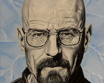 """Breaking Bad - Walter White - No.1 in a set of 5 - Art Print/Reproductions 10"""" x 12"""""""