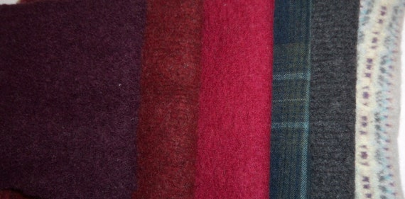 Oversized wool pieces for needle felting, stuffed animals, penny rugs