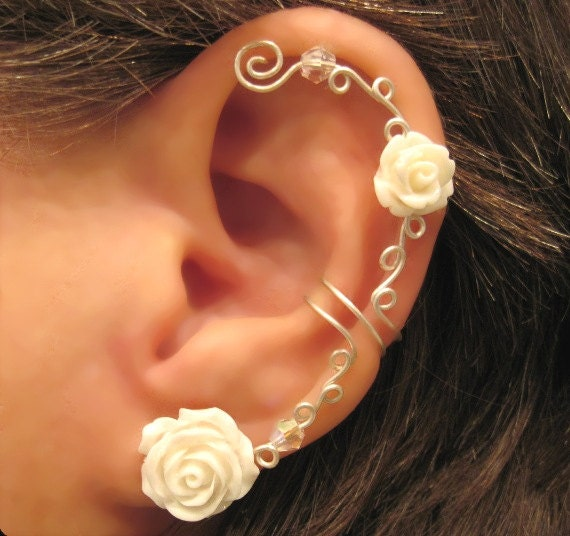 Cartilage Ear Cuff Wedding Prom Bridal No Piercing
