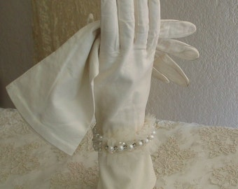 Vintage 1930s Kid Gloves Wedding