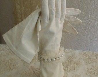 Vintage 1930s Kid Gloves Wedding