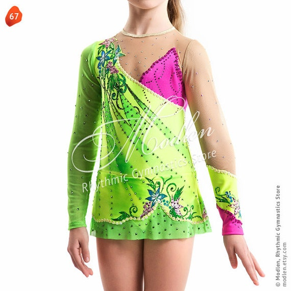 Leotard #67: Rhythmic Gymnastics Leotard, Ice Figure Skating Dress, Acrobatic Gymnastics Costume, Jumpsuit or Dance Dress