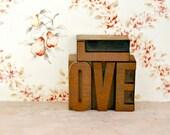"Reserved for Emily M. Vintage Letterpress ""LOVE"""