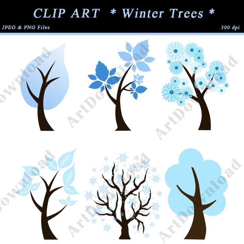 Winter Trees Clip Art Winter trees -