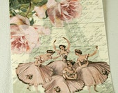 Tags Vintage Ballerina set of 6 FREE Shipping