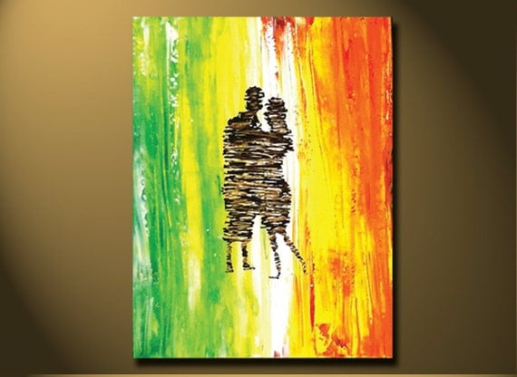 Abstract Painting Ideas Acrylic: Canvas Art Painting Abstract Paintings Contemporary By OritArt