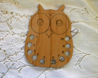 Owl wooden thread organizer sewing notion laser cut original design can be personalized