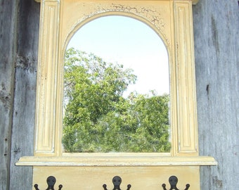 The Yellow Arch Mirror Organizer- Handmade French Architectural Design by Arcadian Cottage