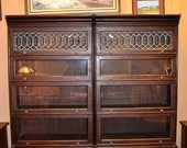 Mahogany Barrister Bookcases with Leaded Glass