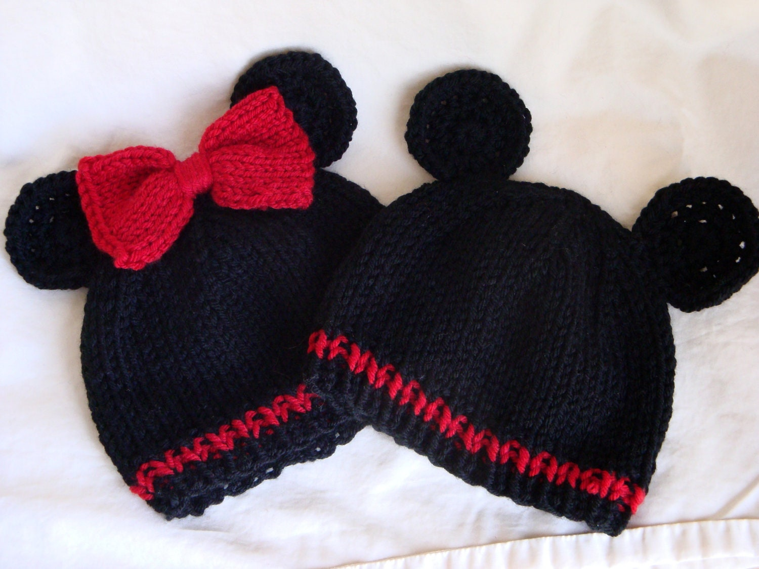 Mickey Or Minnie Mouse Inspired Baby By Fiberflowersandbeads
