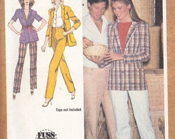 Simplicity 9406 Misses' Straight-Leg Pants and Unlined Jacket Pattern, UNCUT, Size 14, 1980