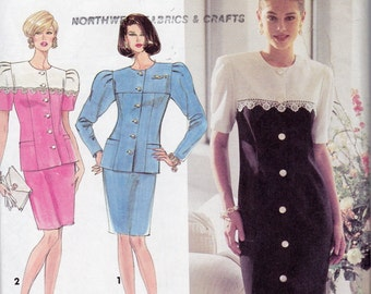 Simplicity 7669 Misses'/Miss Petite One or Two-Piece Dress Pattern, UNCUT, Size 12-14-16