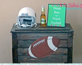 Fantasy Football Birthday Draft Party Printable Welcome Sign