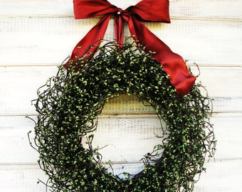 Christmas Wreath-Holiday Wreaths-Winter Wreath-Farmhouse Wreath-Rustic Home Decor-Scented Wreath-Holiday Home Decor-Gift for Mom-Gifts