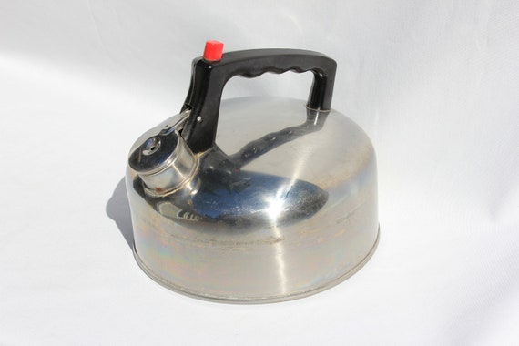 Vintage Stainless Steel Teapot or Kettle