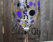 Baltimore Ravens Wine Glass 20oz Personalized