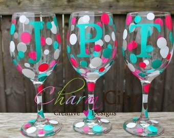 Personalized Wine Glasses for Bridal Parties, Birthday, Wedding, Mother's