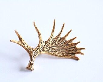 GOLD //// plated wild deer antler pin