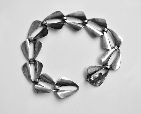 Niels Erik N E FROM Denmark Scandinavian Sterling Silver 925s Modernist Bracelet