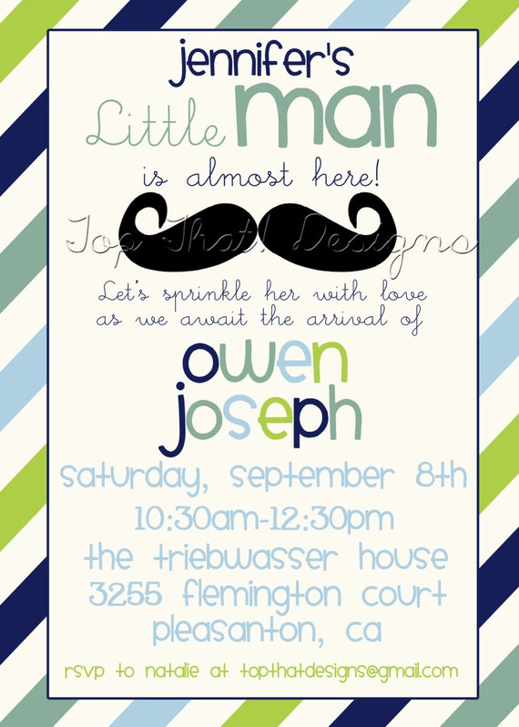 little man baby shower invitation printable