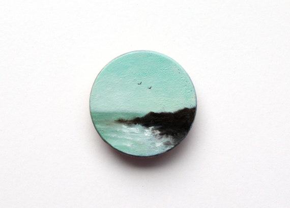 Maine Coast Magnet Oil Painting