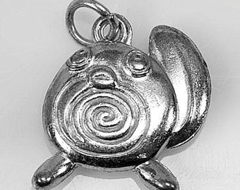 New Poliwag baby of Poliwhirl Tadpole Pokemon Sterling silver cute charm jewelry