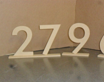 """6"""" Table Numbers set 1-20 with 1/4""""  Base MDF / WOOD"""