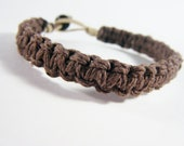 Boyfriend Gift, Mens Bracelet Mens Gift Thick Brown Hemp Bracelet, Eco-Friendly Bracelet, Eco Friendly Jewelry, Valentines Gift for him