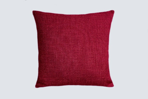Burgundy Colored Throw Pillows : Decorative pillow case Burgundy color Velvet and Textured