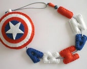 Captain America Name Banner - made to order - Super Heroes personalised kids name