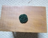 Lovely Celtic knot mini dollhouse hot pad-hand tied 1/12 scale