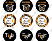 Multiple Sclerosis Awareness, Cure, Fight - i inch image graphics for bottle caps