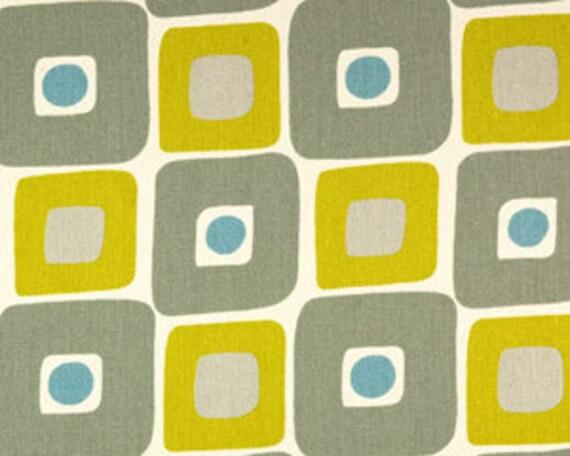 "Two 96"" x 50""  Custom  Curtain Panels - Rod Pocket Panels - Geometric Citrine Yellow/Grey"