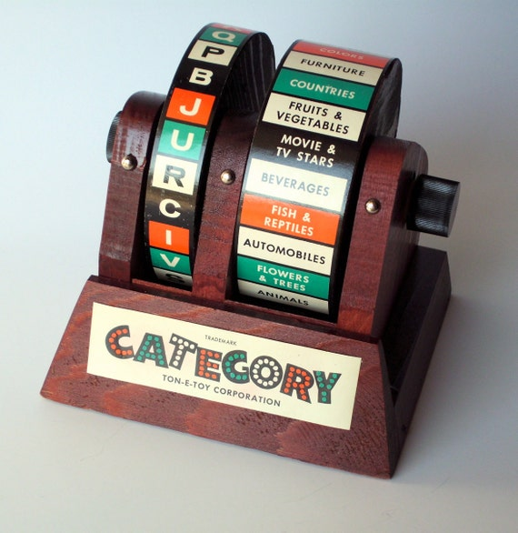 Vintage Ton-E-Toy Category Game
