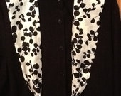 Scarf or Shawl or Sash in Black & White For Any Season