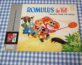 Romulus the wolf escapes from the circus, vintage 1969 children's book