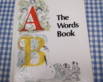 SALE the words book, vintage 1979 children's book