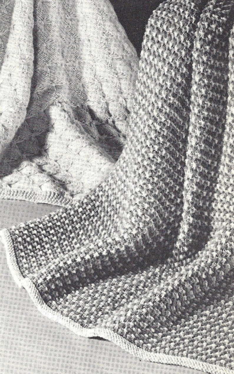 Vintage Pattern Tweed-Knit Coverlet Baby BlanketPram Cover