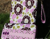 Travel Diaper Changing Set (Girl) - Wet Bag & Wipes Case - Plum, Lavender and Green