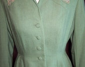 RESERVED for  Lola LaShea : Hyde Park Drum Skirt Shape Retaining 40s Woman's Suit
