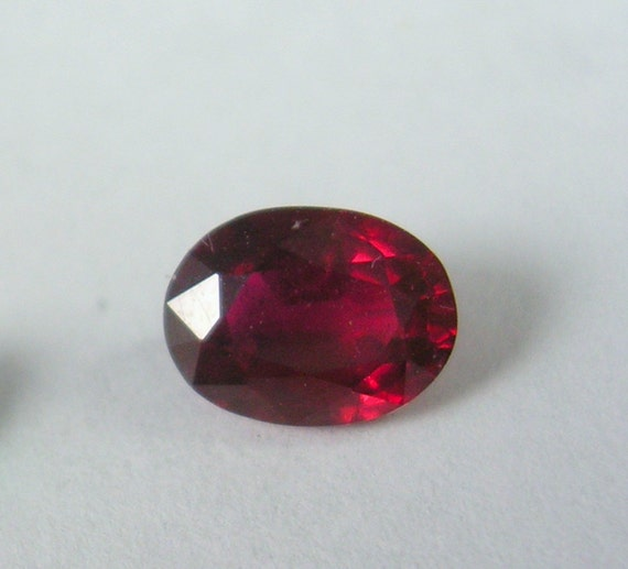 Reserved K - Natural Red Ruby Oval 8X6mm or 1.55 carats Amazing Color and July Birthstone