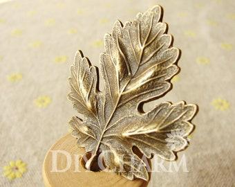 Antique Bronze Huge Maple Leaf Findings Charms 35x37mm - 5Pcs - DC23248