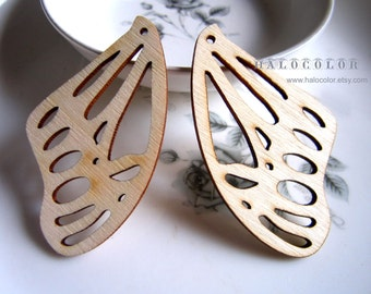 36 x 63mm Pretty Nature Wing Wooden Charm/Pendant MH183 11