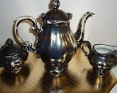 Vintage Bravarian Feinsilber China 5-Piece Coffee/Tea Service