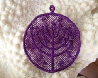 Lace Menorah, Hanukkah Ornament