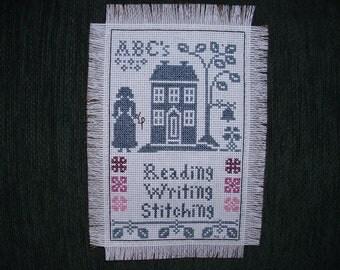 READING, WRITING, STITCHING