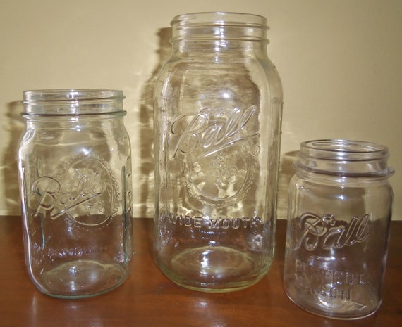Vintage Ball Jar Set of Three