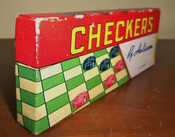 Vintage Checkers Halsam Chess
